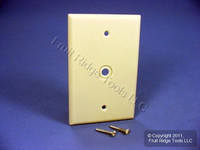 "Leviton Ivory MIDWAY 1-Gang Phone Radio Cable Wallplate .312"" Opening 80513-I"