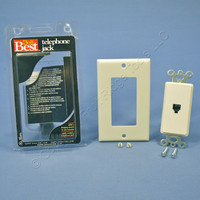 Do It Best Almond 1-Gang Decorator Type 625 Phone Jack Telephone Wall Plate 552496