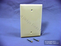 Leviton Almond UNBREAKABLE Midway Blank Wallplate Thermoplastic Box Mount Cover PJ13-A