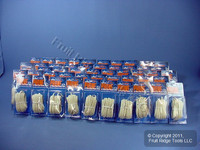 50 Leviton Ivory 25' Flat Phone Cords 6-Wire Telephone C2684-25I