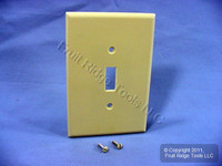 Leviton Ivory JUMBO Toggle Switch Cover Wallplate Oversize Switchplate 86101