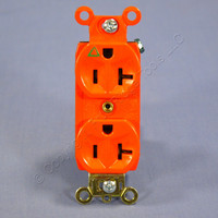 Pass & Seymour Orange ISOLATED GROUND Duplex Outlet Receptacle 20A Bulk IG6300
