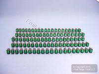 100 Leviton Green Pilot Light Illuminated Mini Rocker Panel Switches ON/OFF Micro MR001