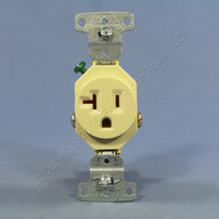 Hubbell Bryant Ivory COMMERCIAL Single Outlet Receptacle 20A 125V RR201I