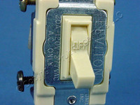 Leviton Ivory DOUBLE POLE Commercial Framed Toggle Switch 20A 54522-2I Bulk