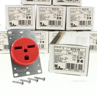 10 Leviton ISOLATED GROUND Industrial Grade Straight Blade Power Receptacles Outlets NEMA 6-30R 30A 250V 5372-IG