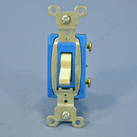 Pass & Seymour Ivory COMMERCIAL Toggle Light Switch 15A CS15AC1-I