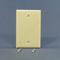 Cooper Commercial Light Almond Unbreakable Mid-Size 1-Gang Blank Wallplate Cover PJ13LA