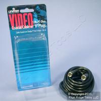 Leviton Black 12' Coaxial Video Cable w/ Silver PLUG Ends RG59 F-Type C5851-12E