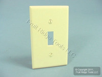 Leviton Ivory 1-Gang Toggle Switch Plastic Cover Wall Plate Switchplate 86001