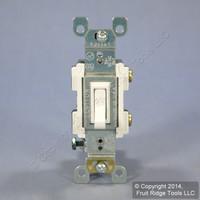 Leviton White Framed Toggle Wall Light Switch Single Pole 15A 120V Bulk RS115-2W