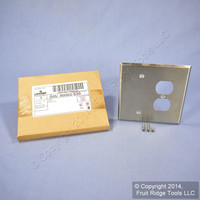 Leviton Stainless Steel 2-Gang OVERSIZE Blank Duplex Receptacle Outlet Cover Jumbo Wallplate 90002-S30
