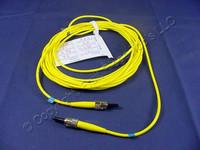 5M Leviton Fiber Optic Single-Mode Simplex Patch Cable Cord ST ST UPC UPSST-S05