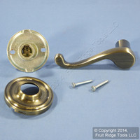 LEFT Weslock Traditonale Calais 605 Antique Brass Dummy Closet Door Pull Lever