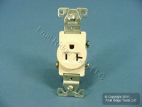 Cooper Light Almond COMMERCIAL Single Outlet Receptacle 5-20R 125V 20A 1877LA