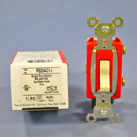 Pass & Seymour Ivory INDUSTRIAL Toggle Switch 20A PS20AC1-I