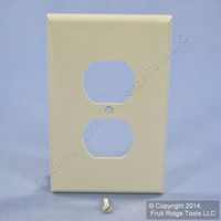 Leviton Gray LARGE Unbreakable Receptacle Wallplate Nylon Outlet Cover PJ8-GY
