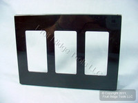 10 Leviton Brown 3-Gang Decora Screwless Snap-On Wallplate Covers GFCI GFI Polycarbonate Plastic Commercial Grade 80311