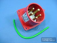 Leviton Pin & Sleeve Splashproof Plug Inlet 20A 277/480VAC 3ØY SP520B7