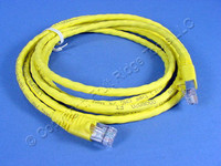 Leviton Yellow 7' Cat 6+ Extreme Ethernet LAN Patch Cord Cable Cat6 Plus 7 Ft 62460-7Y