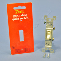 Do It Best Ivory ON/OFF Framed Toggle Light Switch Single Pole 15A 120V 505587