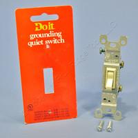 Do It Best Ivory ON/OFF Framed Toggle Light Switch Single Pole 15A 120V 505587