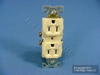Cooper Ivory COMMERCIAL Grade Outlet Receptacle NEMA 5-15R 15A 125V Bulk CR15V