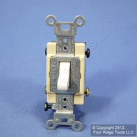 Leviton White 4-Way COMMERCIAL Quiet Toggle Wall Light Switch 15A Bulk CS415-2W