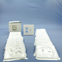25 Leviton MIDWAY White 2-Gang Switch Receptacle Wallplates Outlet Switchplate Covers 80505-W