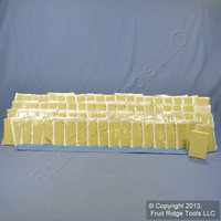 25 Leviton Ivory Standard 1-Gang Box Mount Blank Plastic Cover Wallplates 86014
