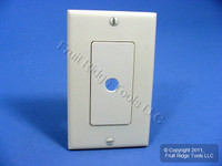New Leviton Ivory Decora Rotary Dimmer Switch Plastic Cover Wall Plate 80400-I