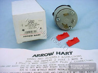 Arrow Hart Crouse-Hinds Twist Turn Locking Power Plug NEMA L5-30P 30A 125V 6332