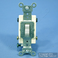 Leviton Gray 4-Way COMMERCIAL Toggle Wall Light Switch 20A CS420-2GY