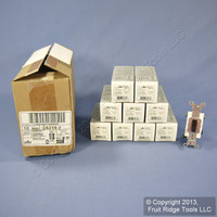 10 Leviton Brown 3-Way COMMERCIAL Toggle Wall Light Switches 15A CS315-2