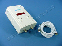 Leviton COMMERCIAL Compact Block Wall Surge Protector Suppressor CATV 4900-PC