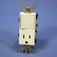 Leviton Almond Decora Single Pole Rocker Switch & Receptacle Outlet Bulk 5625-A
