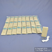 25 Leviton Ivory UNBREAKABLE Nylon Blank Center Panel Sectional Cover Strap Mount Wallplates PSC14-I