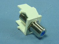 Leviton Almond Quickport F-Type Coaxial Cable Jack 75-Ohm w/ BLUE Center 41084-FAF