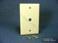 "New Leviton Almond Phone Cable Wallplate Telephone Cover Plate .406"" Hole 82013"