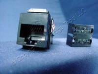 Leviton Black Keyed Cat 3 Snap-In Quickport Data Voice Jack Cat3 RJ45 Telephone 41108-KE3