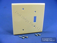 Leviton MIDWAY Ivory 2G Blank Switch Cover Thermoset Plastic Wallplate 80506-I