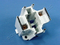Leviton Compact Fluorescent Lamp Holder CFL Light Socket G24d-1 Base Bottom Snap-In 2-Pin 10W 13W 2-Pin 26725-201