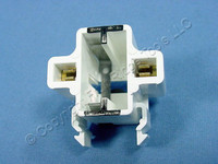 Leviton Compact Fluorescent Lamp Holder CFL Light Socket 2-Pin 13W GX23 GX23-2 Base Horizontal Snap-In 26720-100