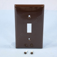 Leviton Brown Unbreakable Toggle Switch Cover Wallplate 1-Gang Switchplate 80701