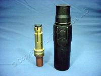 Leviton Black ECT 17 Series Male Vulcanized Cam Plug Crimped Style 690A 600V 17V21-E
