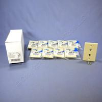 10 Leviton Ivory 2-Line Phone Jack Flush Mount 6-Position Telephone Wallplate Covers 625B3 40244-I