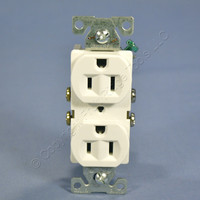 Cooper White COMMERCIAL Grade Outlet Receptacle NEMA 5-15R 15A 125V Bulk CR15W