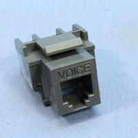 Cooper ASPIRE Silver Granite RJ12 Cat3 Snap-In Modular Voice Jack 110 Style 6-Position 9556SG