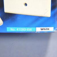 5 NEW Leviton White Quickport 6-Port Flush Mount High Impact Fire-Retardant Plastic Wallplate Covers 1-Gang 41080-6WP