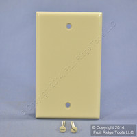 New Leviton Ivory Standard 1-Gang Box Mount Blank Plastic Cover Wallplate 86014